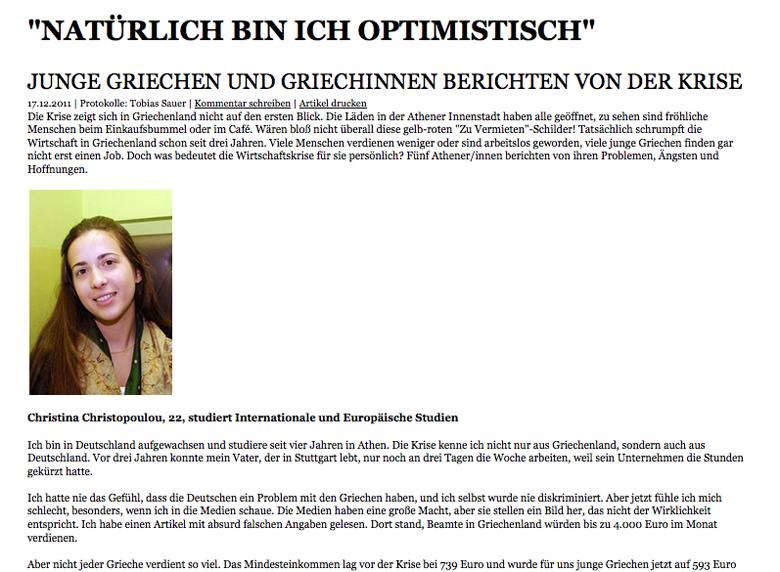 """""""Natürlich bin ich optimistisch"""""""