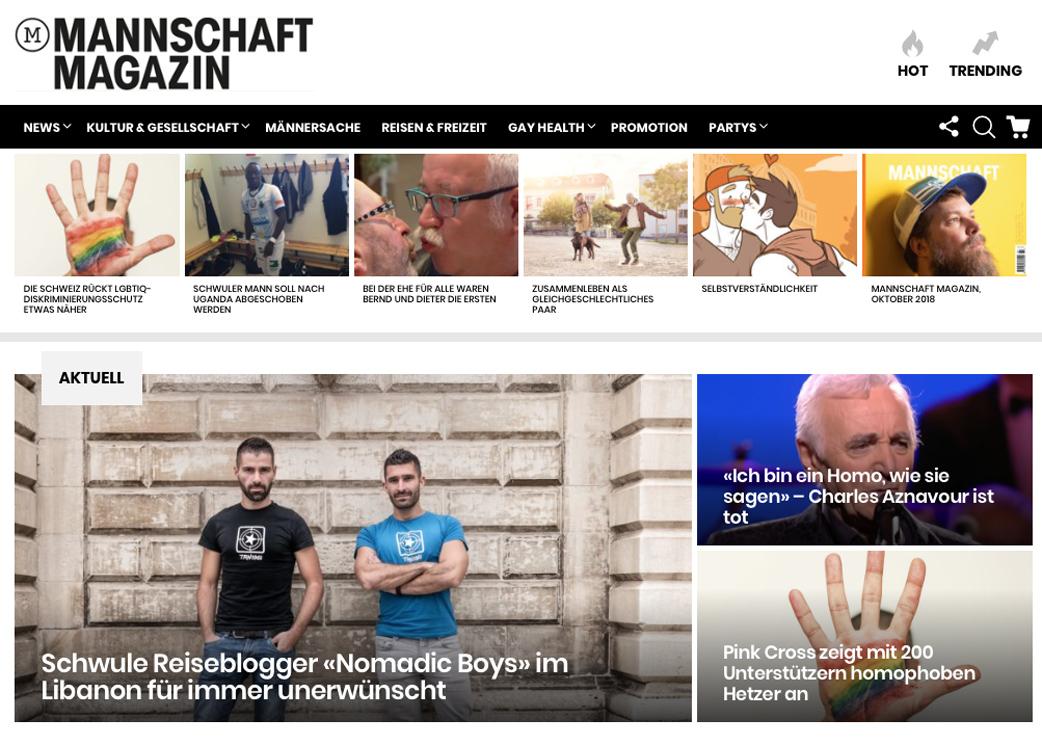"""Schwule Reiseblogger """"Nomadic Boys"""" im Libanon für immer unerwünscht"""