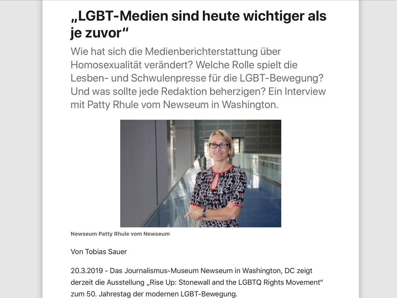 """LGBT-Medien sind heute wichtiger als je zuvor"""