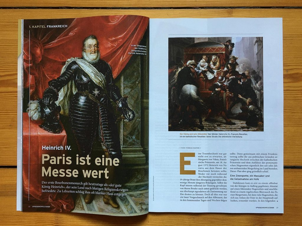Foto der ersten Seite des Heinrich-Textes in G/Geschichte.