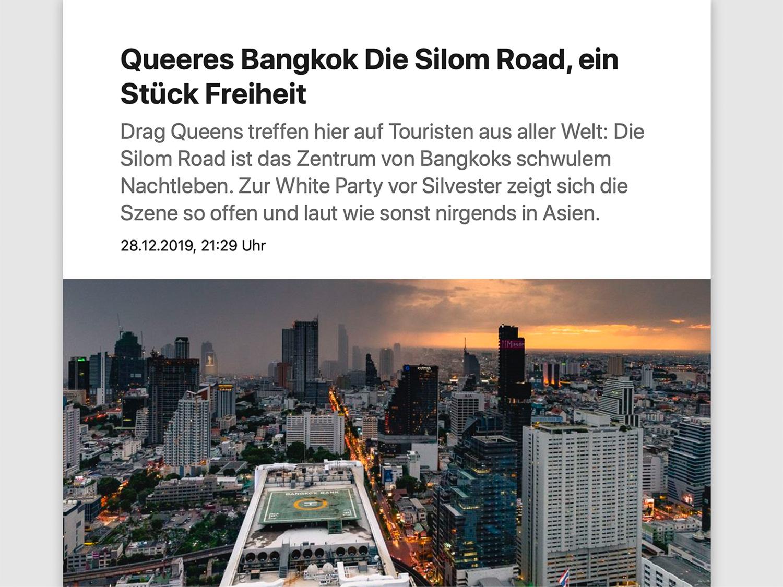Die Silom Road, ein Stück Freiheit