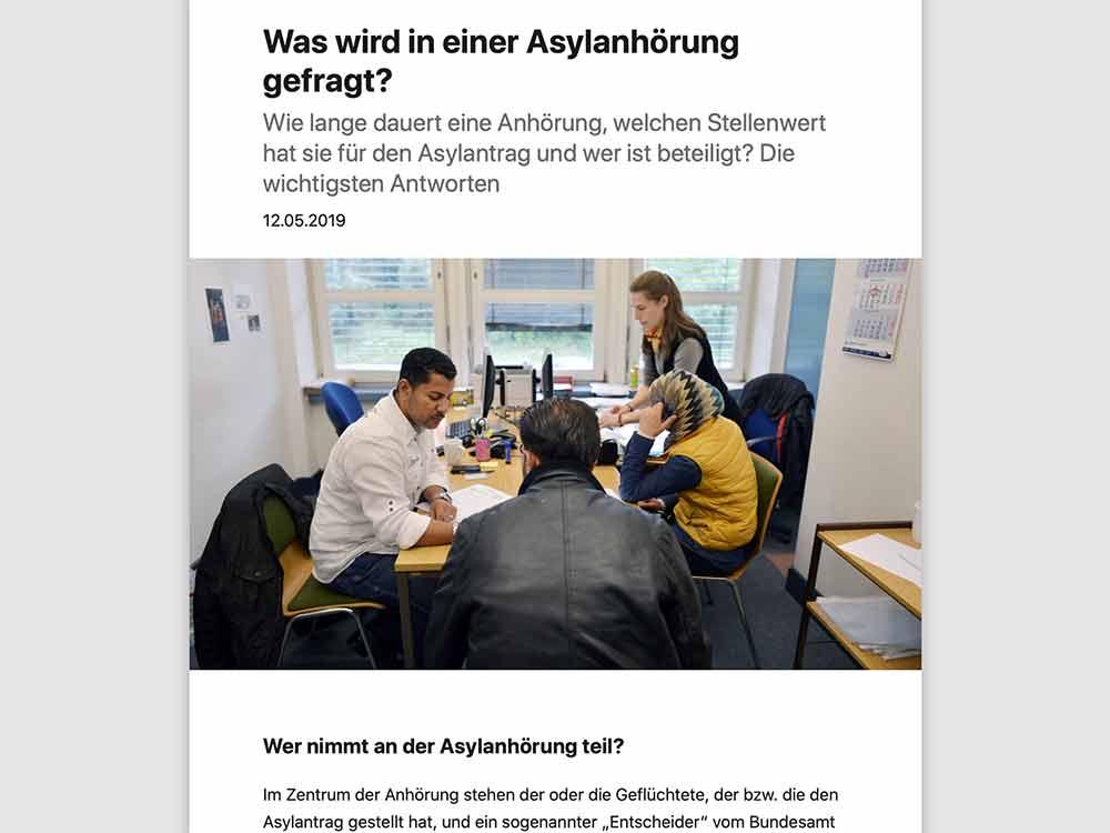 Was wird in einer Asylanhörung gefragt?
