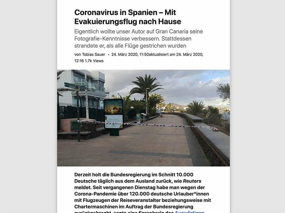 Coronavirus in Spanien – Mit Evakuierungsflug nach Hause